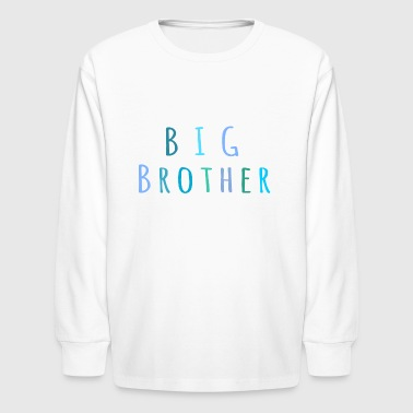 Big Brother in blue - Kids' Long Sleeve T-Shirt