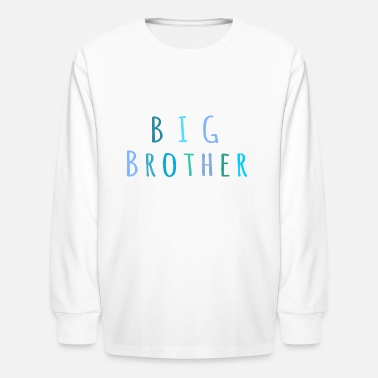 Brother Big Brother in blue - Kids' Long Sleeve T-Shirt