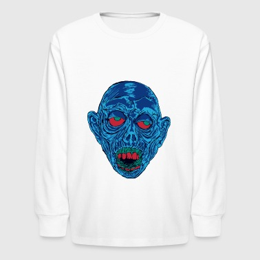 Graveyard Ghoul Shocking Blue - Kids' Long Sleeve T-Shirt