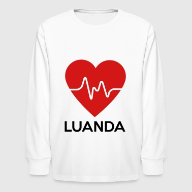 Heart Luanda - Kids' Long Sleeve T-Shirt