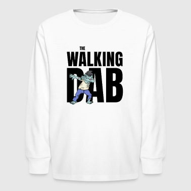 Undead The Walking Dab Halloween zombie boy dabbing black - Kids' Long Sleeve T-Shirt