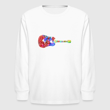 Funny Acoustic Guitar Shirt - Kids' Long Sleeve T-Shirt