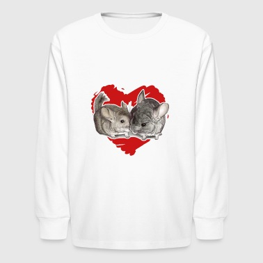Chinchilla Love Tee Shirt - Kids' Long Sleeve T-Shirt