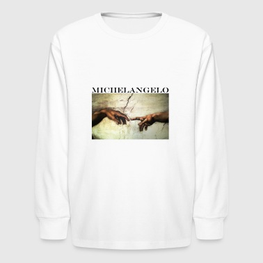 Michelangelo Art Shirt - Creation of Adam - Kids' Long Sleeve T-Shirt