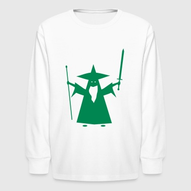 Sword And Sorcery wizard - Kids' Long Sleeve T-Shirt