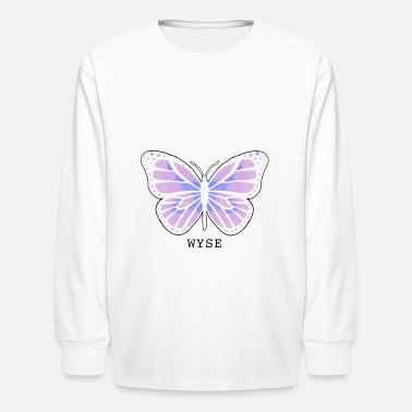 WYSE Butterfly (no white background) - Kids' Longsleeve Shirt