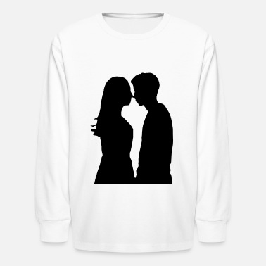 Girlfriend Love Boyfriend Relationships Girlfriend And Boyfriend Silhouette - Kids' Longsleeve Shirt