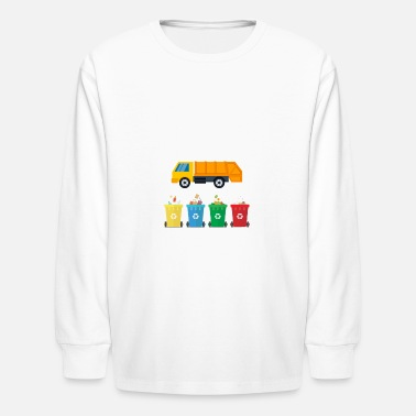 Kids Day Of The Dead Garbage Day Is The Best Day Kids - Kids' Long Sleeve T-Shirt
