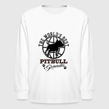 The World's Best Pitbull Grandpa - Kids' Long Sleeve T-Shirt