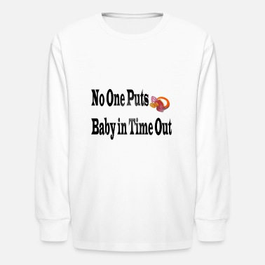 Time Out Baby in Time Out - Kids' Long Sleeve T-Shirt