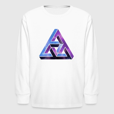 optical illusion - universe - Space -  - Kids' Long Sleeve T-Shirt