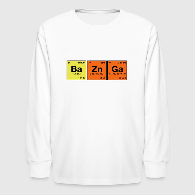 THE BAZNGA ELEMENT - Kids' Long Sleeve T-Shirt