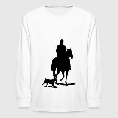 cowboy ranger rancher sheriff horse cowgirl wester - Kids' Long Sleeve T-Shirt