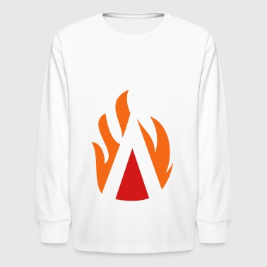 Fire Triangle - Kids' Long Sleeve T-Shirt