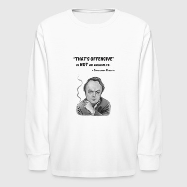Left-wing Hitchens quote - Kids' Long Sleeve T-Shirt