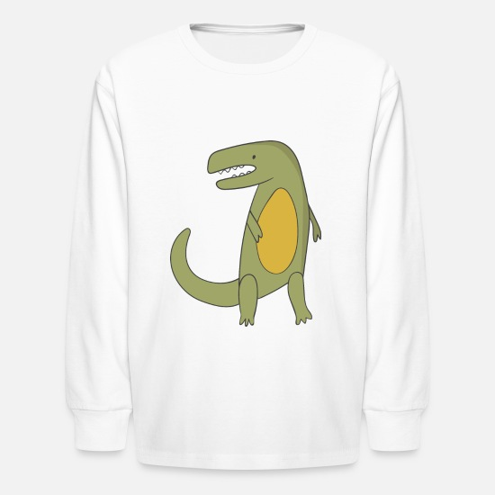 Dinosaur Long-Sleeve Shirts - Dinosaur - Kids' Longsleeve Shirt white