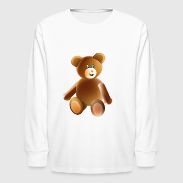 Teddy Bear, - Kids' Long Sleeve T-Shirt