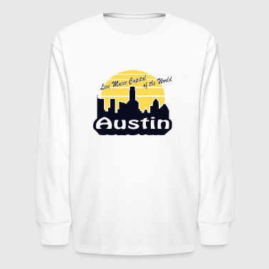 Austin (Live Music Capital of the World) - Kids' Long Sleeve T-Shirt