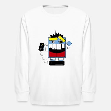 Krazy krazy gamer - Kids' Long Sleeve T-Shirt