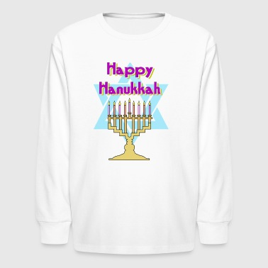 Happy Hanukkah - Kids' Long Sleeve T-Shirt