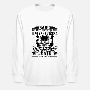 Iraq War Warning Iraq War Veteran Shirt - Kids' Longsleeve Shirt
