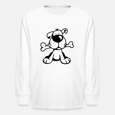 Dog The little dog has a big bone - Kids' Long Sleeve T-Shirt