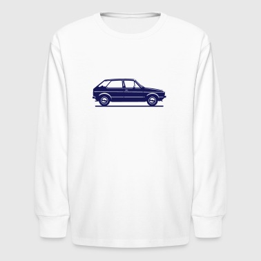 Mk1 Car Profile - Kids' Long Sleeve T-Shirt