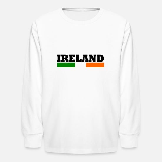 New T-Shirts - Cool Ireland Design flag - Kids' Longsleeve Shirt white