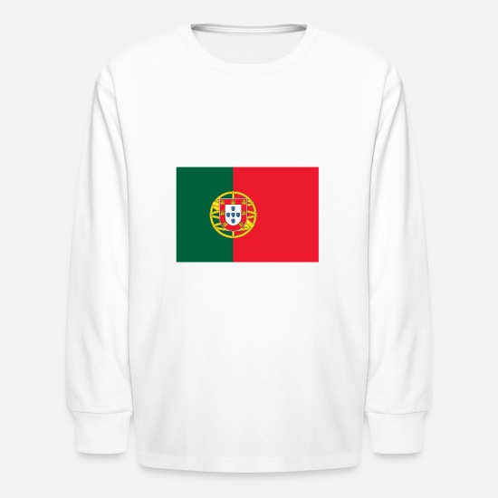 Portugal T-Shirts - Portugal flag - Kids' Longsleeve Shirt white