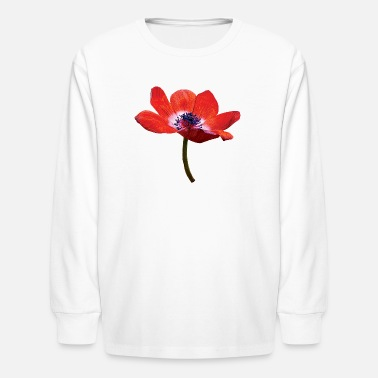 Flower Red Poppy Closeup - Kids' Longsleeve Shirt