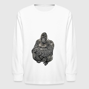 Comic Gorilla - Kids' Long Sleeve T-Shirt