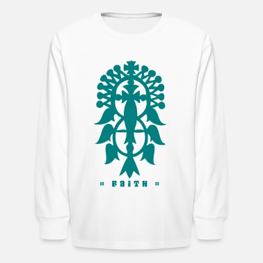 Cross Ethiopian Cross - Kids' Long Sleeve T-Shirt