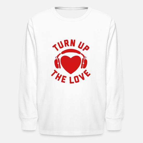 Blues T-Shirts - TURN UP THE LOVE - Kids' Longsleeve Shirt white