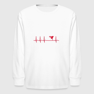 Heartbeat Break Dance Dancer Cool Funny Fun Gift - Kids' Long Sleeve T-Shirt