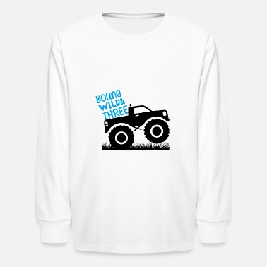 Wild Young Wild and THREE/3 Monster Truck Tee - Kids' Longsleeve Shirt