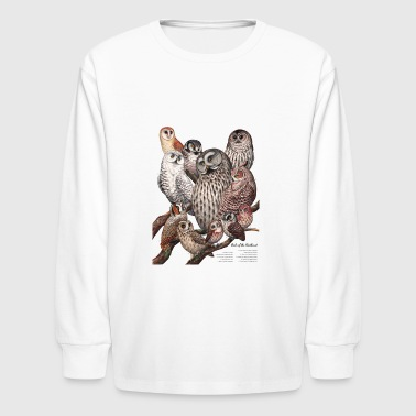 Owls of the Northeast - Kids' Long Sleeve T-Shirt