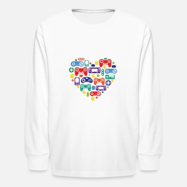 Video Games Video Game Love - Kids' Longsleeve Shirt