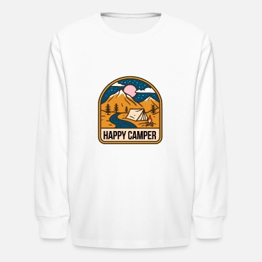 Happy Happy Camper - Kids' Longsleeve Shirt