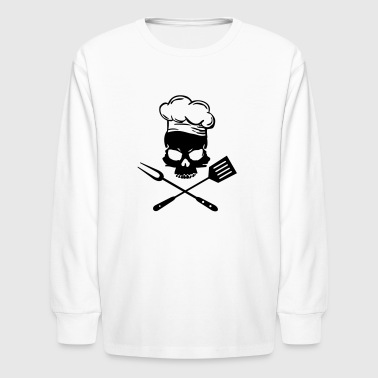 bbq skull - Kids' Long Sleeve T-Shirt