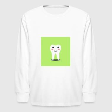 First Tooth Happy tooth - Kids' Long Sleeve T-Shirt