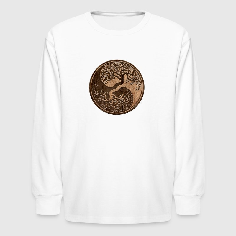 Tree of Life Yin Yang - Kids' Long Sleeve T-Shirt