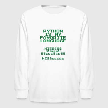 Computer Science python is my favorite language - Kids' Long Sleeve T-Shirt