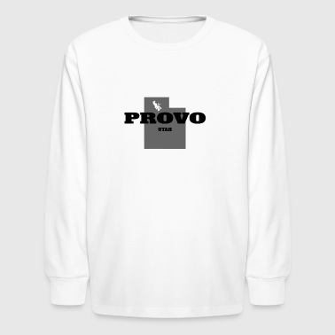 UTAH PROVO US STATE EDITION - Kids' Long Sleeve T-Shirt