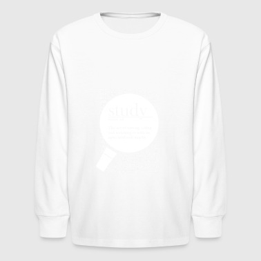 Study fun definition - Kids' Long Sleeve T-Shirt