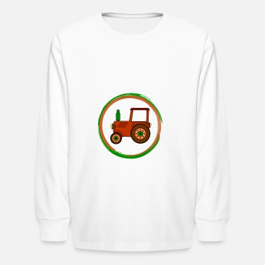 Toy brown toy tractor / toy tractor - Kids' Long Sleeve T-Shirt