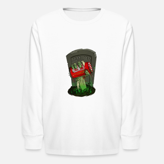 Gravel Long-Sleeve Shirts - From the grave - Kids' Longsleeve Shirt white
