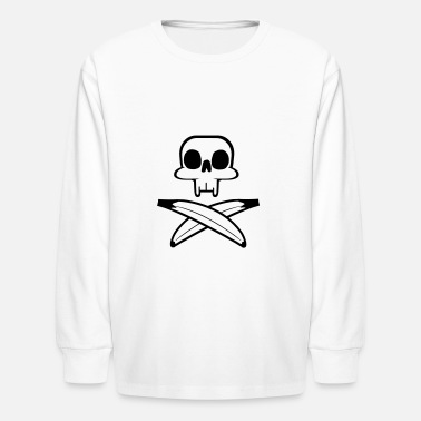 Skull and bananas - Kids' Longsleeve Shirt