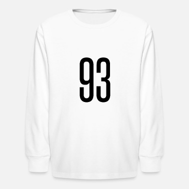 Happy 93 Tall number 93 - Kids' Longsleeve Shirt