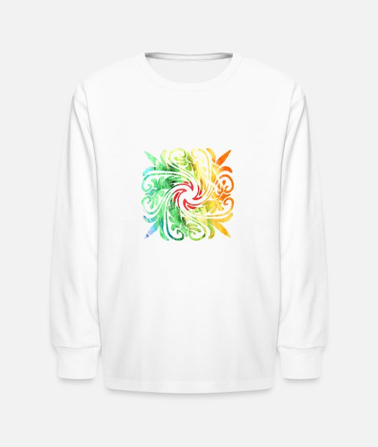 New Zealand Long-Sleeved Shirts - Moroccan Tatoo new art 0056 - Kids' Longsleeve Shirt white