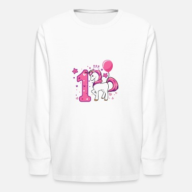 Party First birthday girl 1st birthday toddler gift - Kids' Long Sleeve T-Shirt